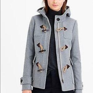 🖤 J Crew wool Melton toggle duffle coat